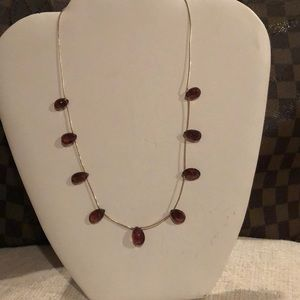 Jewelry - Rubillite Pink Tourmaline Faceted Gemstone Ncklace